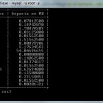 Ver el tamaño de una base de datos MySql