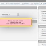Error al exportar en phpMyAdmin 500 internal server error